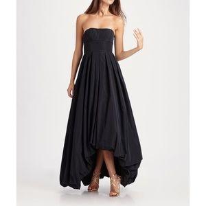 BCBGMaxAzria hi low bubble hem gown size 4